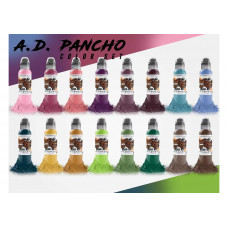 Краска World Famous Tattoo Ink A.D. Pancho ProTeam Colorset 16